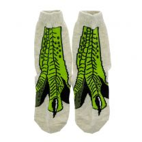 Beige T. rex claw socks