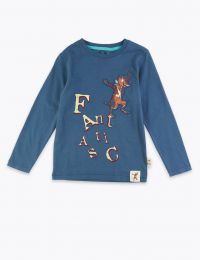 Roald Dahl blue Fantastic Mr Fox long sleeve top