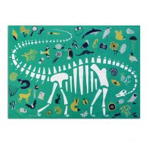 Dippy on Tour tea towel