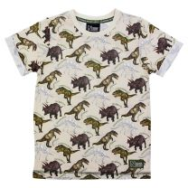 Oatmeal dinosaur kid's t-shirt