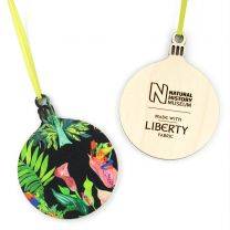 Wooden Liberty design bauble decoration