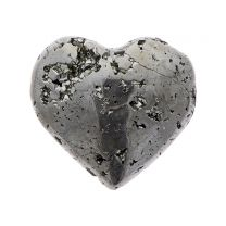 Pyrite mineral heart