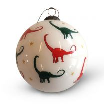 Exclusive dino design Christmas bauble decoration