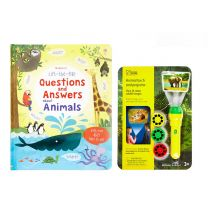 Bundle offer: Animals lift-the-flap book and animal torch and projector