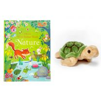 Bundle offer: Nature First sticker book and mini turtle soft toy