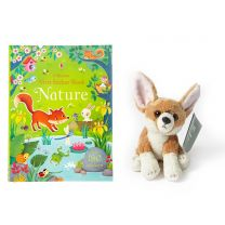 Bundle offer: Nature First sticker book and fox soft toy