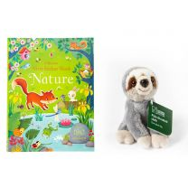 Bundle offer: Nature First sticker book and small sloth soft toy