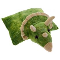Green Triceratops travel cushion