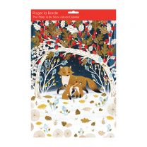 Paw prints in the snow Christmas advent calendar