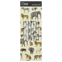 Set of 6 safari animal pencils