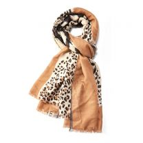 Animal print tiger design scarf