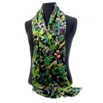Devans Jungle silk scarf made with Liberty Fabric