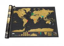 Deluxe scratch map of the world