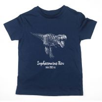 Navy T. rex custom t-shirt for kids