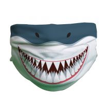 Shark pattern face covering for kids