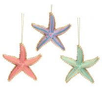 Pastel star fish Christmas decorations