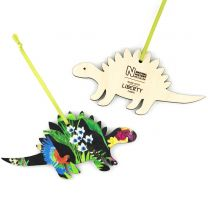 Wooden Liberty design Stegosaurus decoration