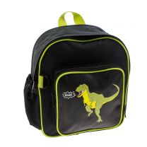 Black T. rex roar backpack for toddlers