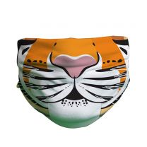 Tiger pattern face covering for kids