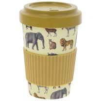 Bamboo reusable safari travel mug