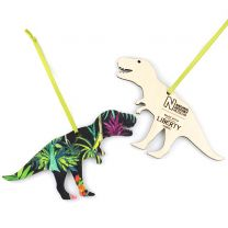 Wooden Liberty design T-Rex decoration