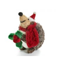 Hedgehog with scarf Christmas decoration