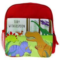 Personalised Mesozoic monsters rucksack