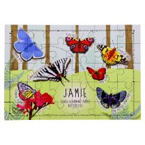 Personalised butterfly 30 piece puzzle