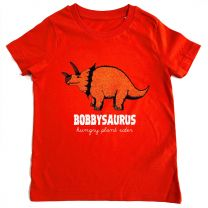 Tangerine Triceratops custom t-shirt for kids