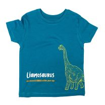Blue Brachiosaurus custom t-shirt for kids