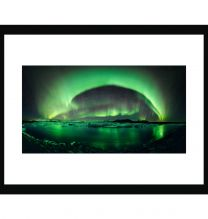 Heavenly light show wall print