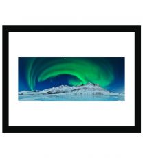 Aurora over ice wall print