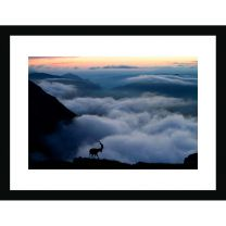On top of the world wall print