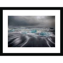 The pull of the sea wall print