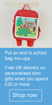 Free UK delivery when you spend £30 or more on personalised dino gifts