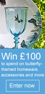 Win £100 to spend on butterfly accessories, jewellery and more