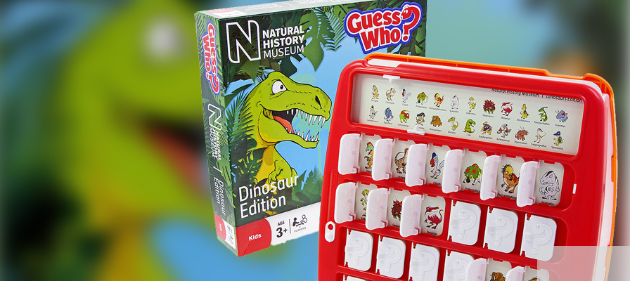 Dinosaur Guess who game and box