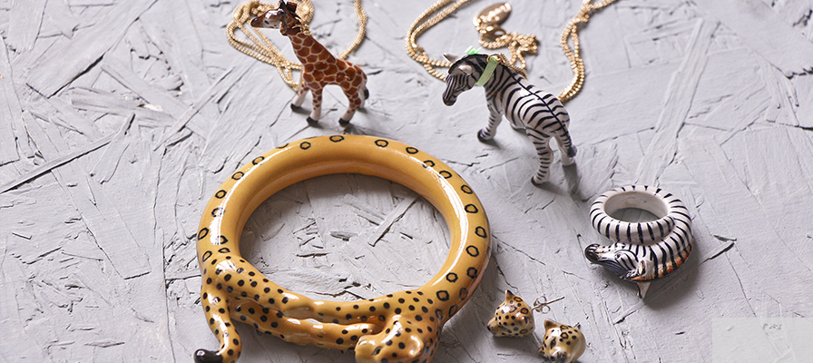 Carnival animal jewellery - Natural History Museum online shop