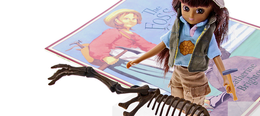 Happy Birthday Mary Anning - new Lottie dolls - Natural History Museum online shop