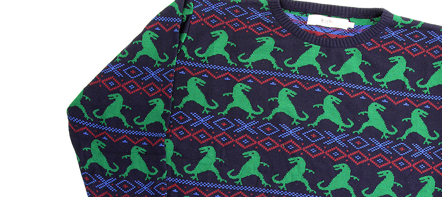 New must have Dino Christmas jumper - Natural History Museum online shop