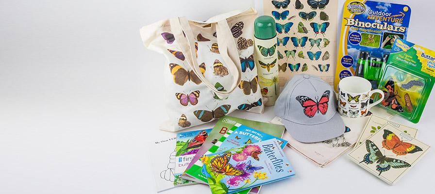 Butterflies - tote bag, flask, prints, cap, mug, books, binoculars, toys