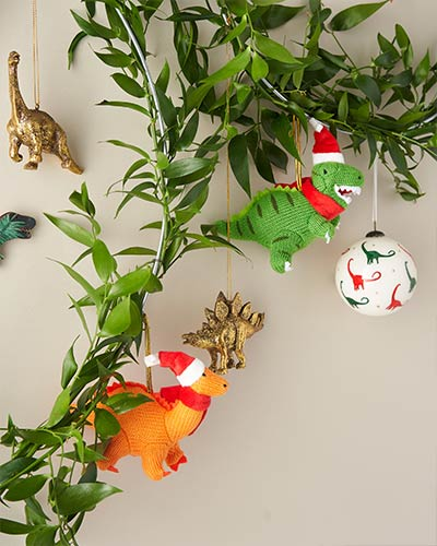Christmas decorations - dino baubles, decorations and more