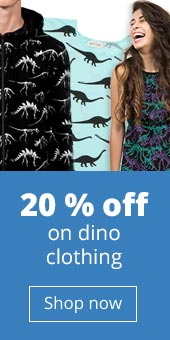 20% off dino adult clothing - ends 20 February