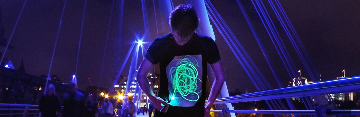Illuminated t-shirts for kids and adults