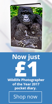 Wildlife Photographer of the Year pocket diary for £1