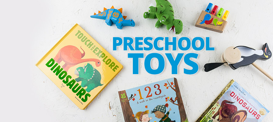 A selection of pre-school toys and books