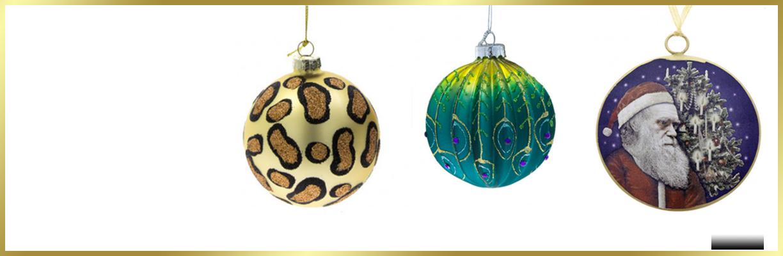 Three Christmas decoration baubles
