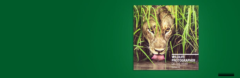 Wildlife Photographer of the Year portfolio 28 on a dark green background