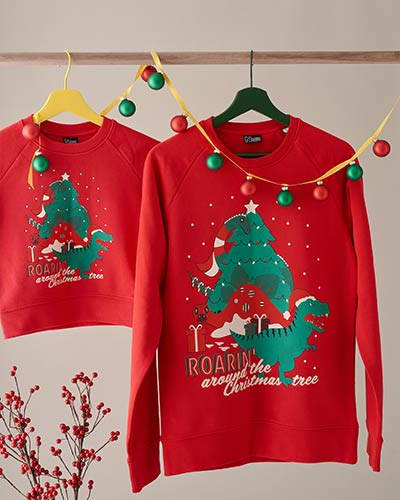 Dino Christmas jumper - get this year's new Roaring design